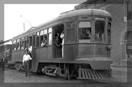 Interurban Trolley and passengers