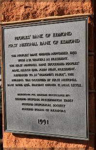 Peoples' Bank plaque